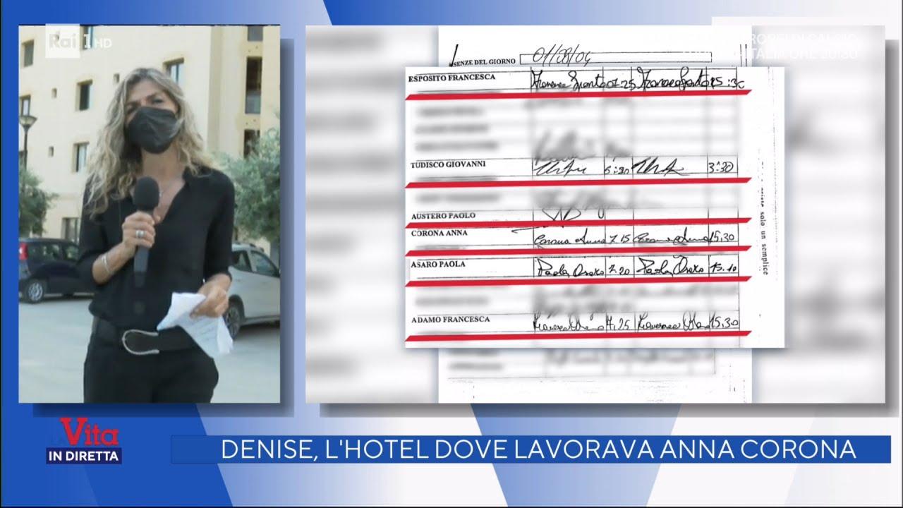 Denise, l'hotel dove lavorava Anna Corona – La vita in diretta 11/06/2021