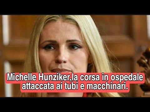 Michelle Hunziker ,la corsa verso l'ospedale attaccata ai tubi e macchinari .