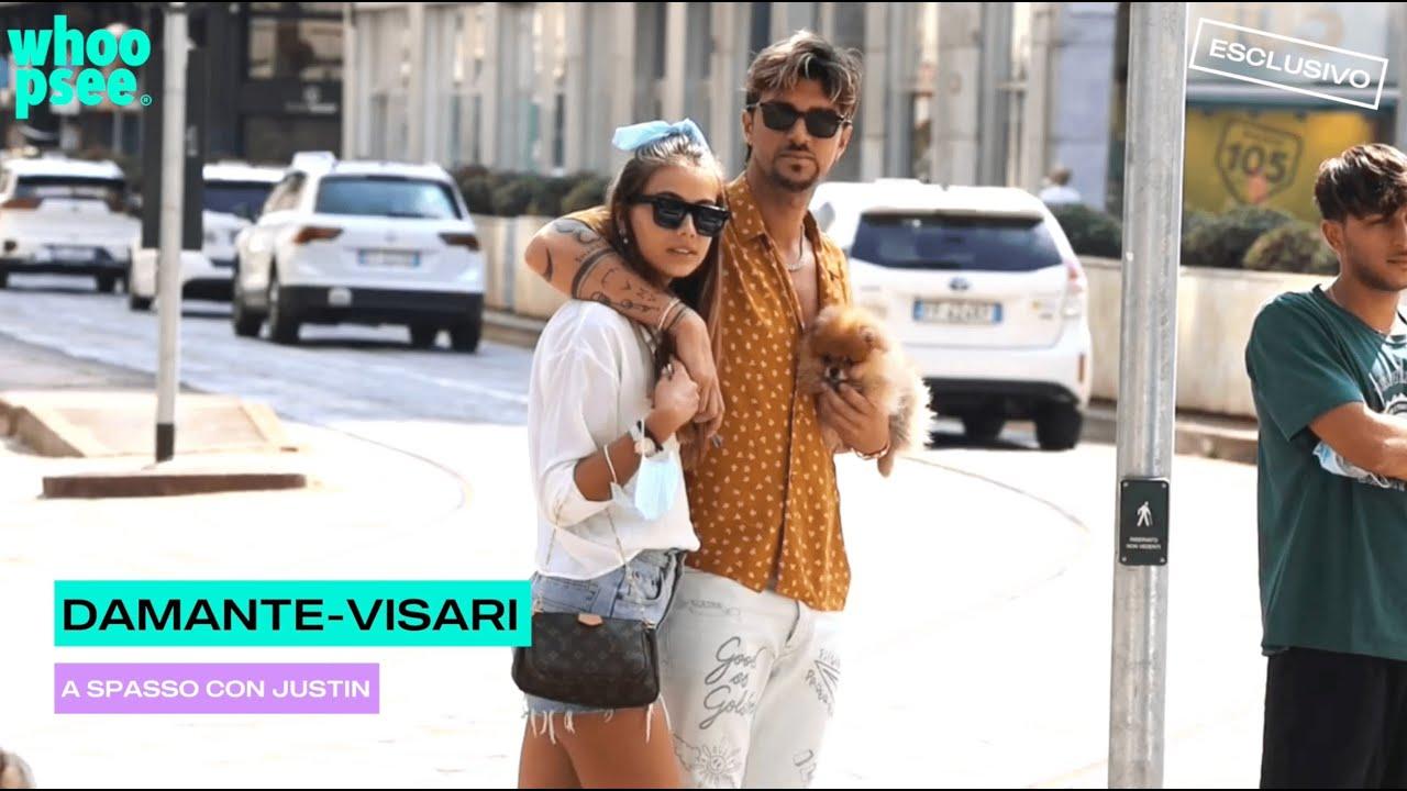 Andrea Damante ed Elisa Visari: a spasso con Justin